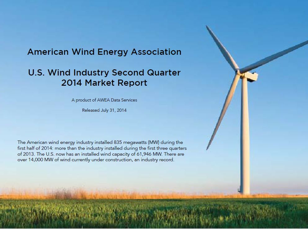 AWEA U.S. Wind Industry Second Quarter 2014 Market Report